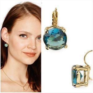 {Kate Spade} 14K gold plated blue drop earrings